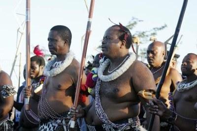 President Edgar Lungu and Mswati III, the King of Swaziland (file photo).