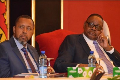 President Peter Mutharika and Vice President Saulos Chilima (file photo).