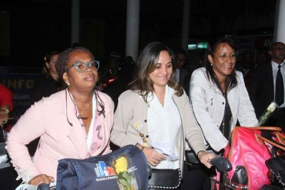Cuban doctors arriving at Jomo Kenyatta International airport.