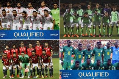 Les équipes nationales de Tunisie, Nigeria, Égypte, le Maroc et Sénégal ont représenté l'Afrique au Mondial 2018.