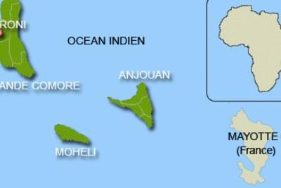 L'archipel des Comores.