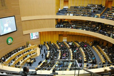 A view of the African Union in Addis Ababa, Ethiopia