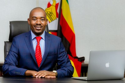 MDC leader, Nelson Chamisa (file photo).