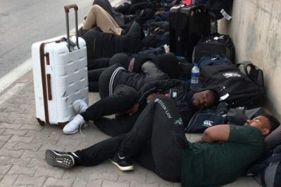 Zimbabwe's Sables Rugby Team stuck in Tunisia.