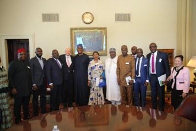 U.S. Senate Pro Tempore Orin Hatch with Nigerian Senate President Bukola Saraki and delegation from the National Assembly on a visit to Washington, DC