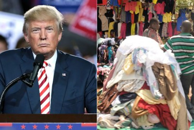 Left: President Donald Trump. Right: Second-hand clothes trader.