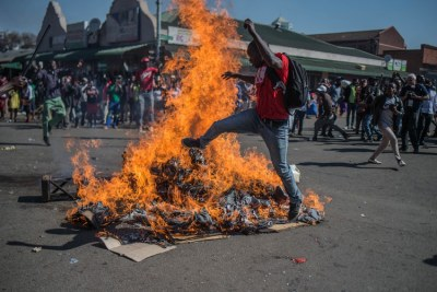 MDC supporters protested in Harare on Wednesday after the electoral commission announced that Zimbabwe's ruling party had won a majority of seats in Parliament and the country braced itself for the first official results of the presidential election.