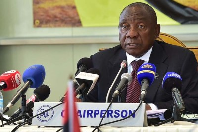 Southern African Development Community's (SADC) chairperson Cyril Ramaphosa.