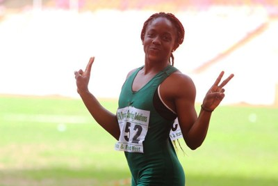 Nigeria's Joy Udo-Gabriel qualified for the 100m event at the Asaba Athletics Champs