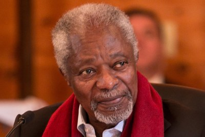 Former UN Secretary General, and Nobel Peace laureate, Kofi Annan.