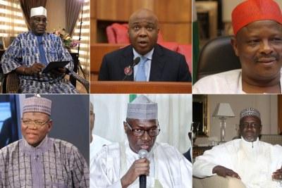 Atiku Abubakar, Bukola Saraki, Rabiu Kwankwaso, Sule Lamido, Ahmed Makarfi and Ibrahim Shekarau.