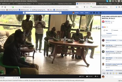 Ugandan MP Robert Kyagulanyi Ssentamu aka Bobi Wine appeared in a military court in Gulu. Those charges were dropped, but he was rearrested and then appeared in a civil court.