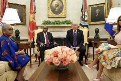 The Kenyattas meet the Trumps at White House on August 27, 2018.