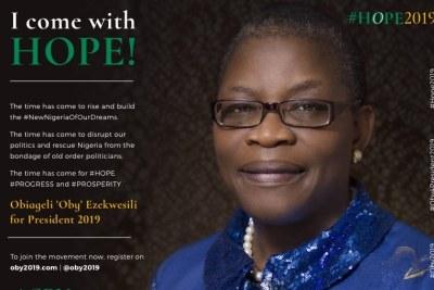 Oby Ezekwesili is Running for President in 2019