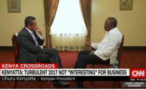 What Kenyatta Said to CNN's Richard Quest