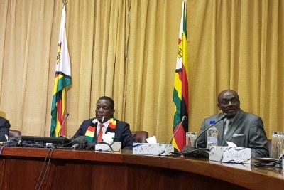 President Emmerson Mnangagwa's November 1, 2018 press conference about oil and gas exploration in Zimbabwe.