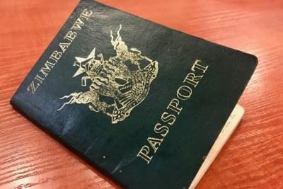 Zimbabwe passport.