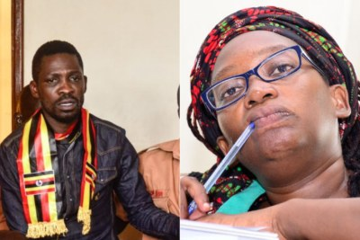 Ugandan MP Bobi Wine and Activist Stella Nyanzi.