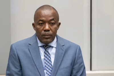 Alfred Yekatom during his initial appearance before the International Criminal Court on 23 November, 2018.