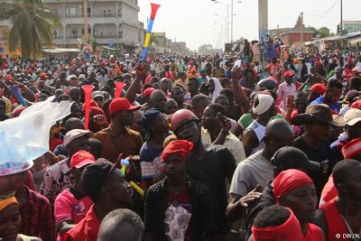 Protesters have been marching in Togo for many months (file photo).