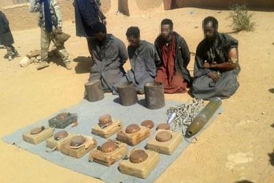 Une cellule de terroristes présumés -composée de deux Burkinabè, un Ivoirien et un Malien démantelée .