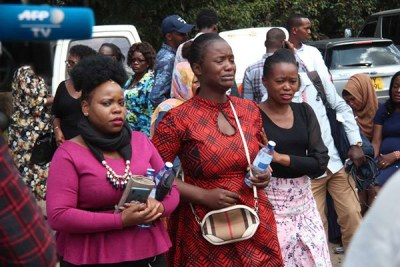 Friends and family members mourn victims of DusitD2 complex attack at Chiromo Mortuary in Nairobi on January 16, 2019.