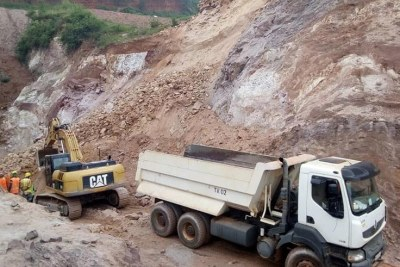 Mining activities at Ntunga site.