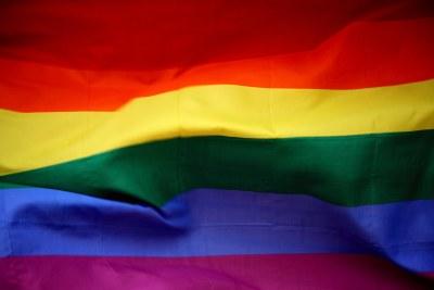 The LGBT rainbow pride flag.