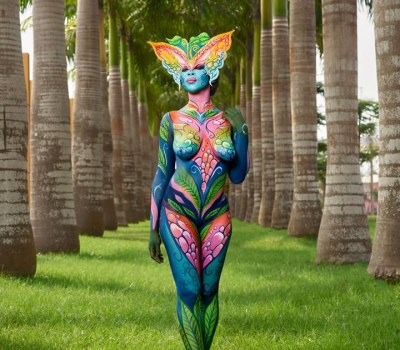 Body Painting Artists Show Off Their Amazing Artistry in Equatorial Guinea