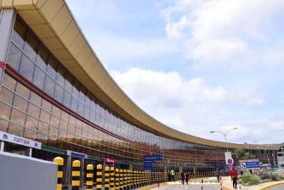 The Jomo Kenyatta International Airport in Nairobi.