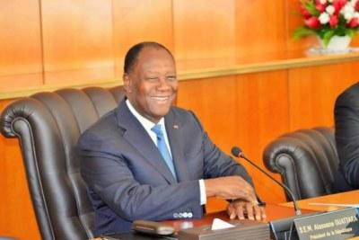 Le président de la République Alassane Ouattara