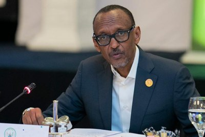 President Paul Kagame (file photo)