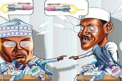 Atiku Abubakar and President Muhammadu Buhari
