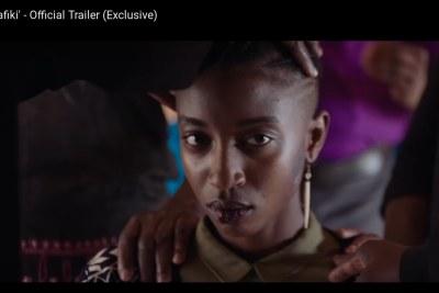 Samantha Mugatsia in the movie Rafiki (screenshot).