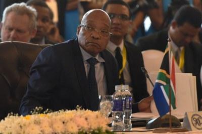 Former President Jacob Zuma in April 2015.
