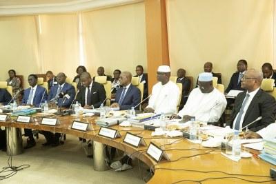 Quatrième session ordinaire de l'année, le 21 décembre 2018, du Conseil des Ministres de l'Union Economique et Monétaire Ouest Africaine (UEMOA) dans les locaux du Siège de la Banque Centrale des Etats de l'Afrique de l'Ouest (BCEAO)