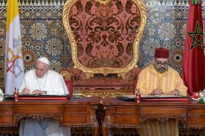 A l'occasion de la visite au Royaume du Maroc, Sa Sainteté le Pape François et Sa Majesté le Roi Mohammed VI, reconnaissant l'unicité et la sacralité de Jérusalem / Al Qods Acharif .