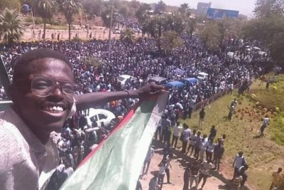 Hundreds of thousands' on the streets of Sudan capital