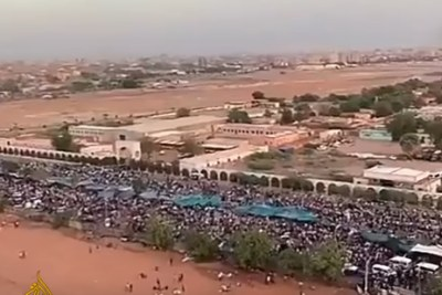 The protest in Khartoum.