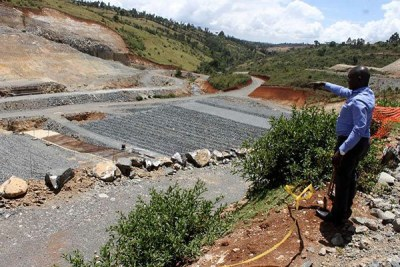 Site in Nakuru where Itare dam is to be constructed by CMC di ravenna. The project has stalled (file photo).