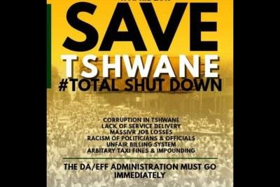 Image spread on social media promoting Total Shutdown protests.
