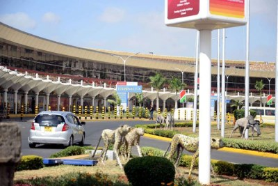 A section of the Jomo Kenyatta International Airport in Nairobi.