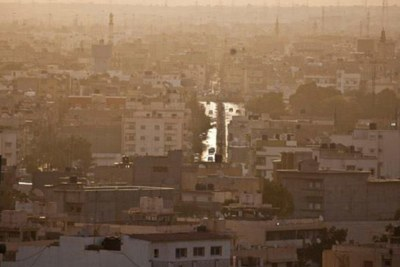 Early morning view over the city of Benghazi, Libya.