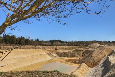 Sand mining.
