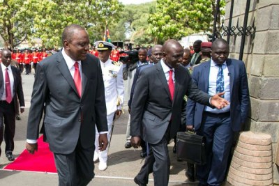 President Uhuru Kenyatta and Deputy President William Ruto (file photo)