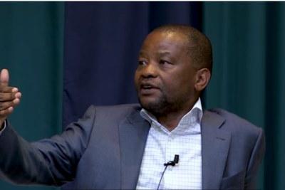 Video screenshot of Old Mutual CEO Peter Moyo.