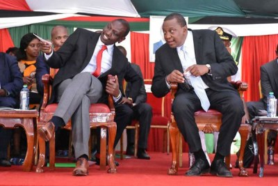 Deputy President William Ruto and President Uhuru Kenyatta (file photo).