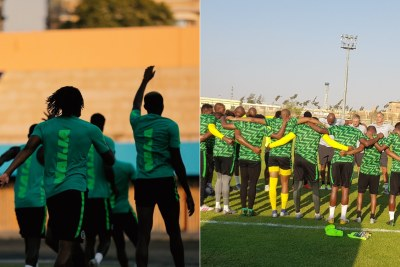 Super Eagles train, and Bafana Bafana pray.