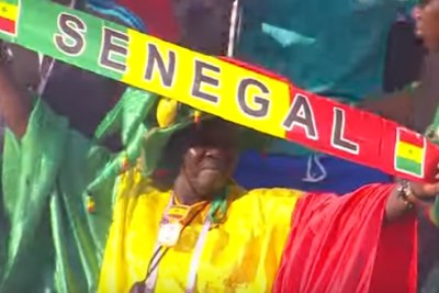 Senegalese fans at the match between Senegal and Benin, July 10, 2019.