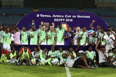 Celebration time for the #SuperEagles
